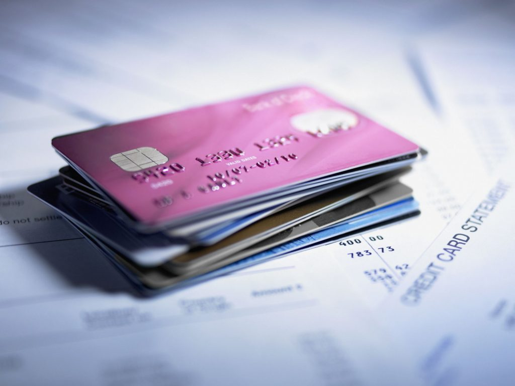 Plastic credit card Visa
